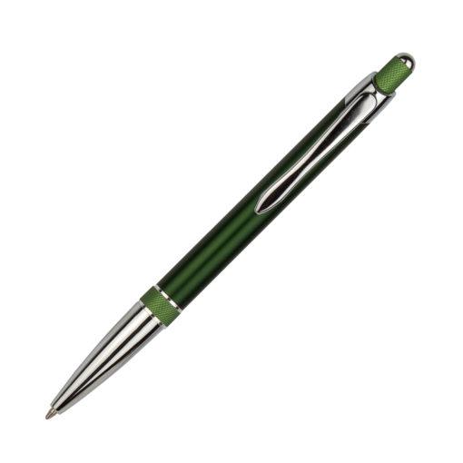 Шариковая ручка, Bali, корпус- алюминий, покрытие зеленый/салатовый, отделка — хром. детали
