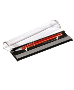 Шариковая ручка, Scotland, нажимной мех-м,корпус-алюминий, оранжевый, матовый/отд-гравировка хром.клетка, в упаковке