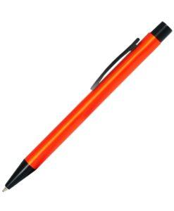 Шариковая ручка, Colt, нажимной мех-м,корпус-алюминий,отделка-детали с черным покрытием, оранжевый