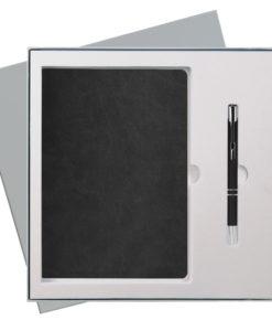 Подарочный набор Portobello/Latte черный (Ежедневник недат А5, Ручка) беж. ложемент