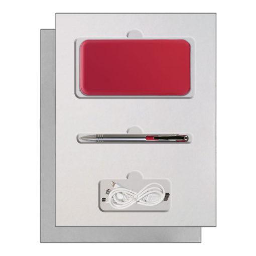 Подарочный набор Portobello/Grand красный, (Power Bank,Ручка)