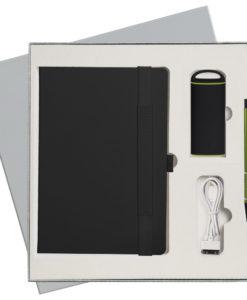 Подарочный набор Portobello/Alpha черный (Ежедневник недат А5, Ручка, Power Bank)