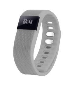 Смарт браслет («умный браслет») Portobello Trend, The One, электронный дисплей, браслет-силикон, 240x20x10 мм, серый