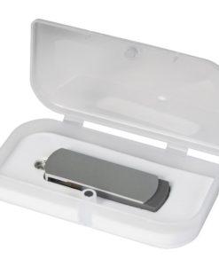 USB Флешка Portobello, Elegante, 16 Gb, Toshiba chip, Twist, 57x18x10 мм, серебряный, в подарочной упаковке
